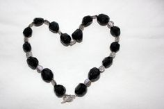 Faceted Black Onyx and Silver Handmade Beaded Necklace Handmade Beaded Jewelry, Handmade Silver, Unhappy Relationship, Anti Valentines Day, Over Love, Beaded Necklace, Beaded Bracelets, How To Feel Beautiful, Black Onyx