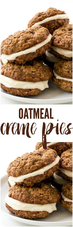 Copycat Homemade Oatmeal Creme Pies! Just like your childhood favorite.