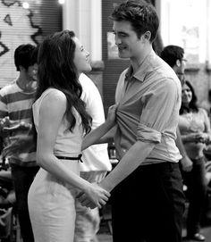 Those smiles aren't Edward and Bella's smiles their Rob and Kristen's...