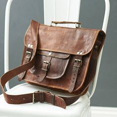 I've just found Vintage Style Leather Satchel. This vintage style leather satchel is an expertly handmade, rugged beauty, that's super functional, stylish and gets even more beautiful with use!