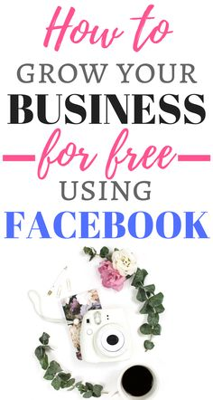 Awesome strategies to grow your Facebook business page for free! These are the best and most efficient ways to increase your likes and gain new customers without having to spend a dime! Definitely pin this for later!
