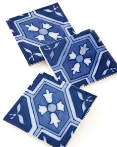 TREND ALERT: NAVY BLUE    Maroc tiles from Country Floors; countryfloors.com.