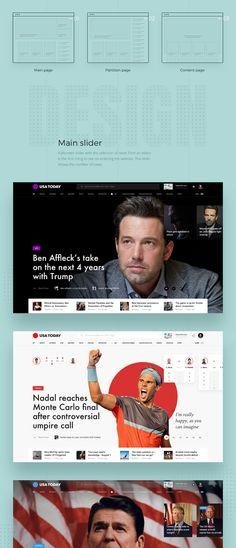 USA Today Redesign concept on Behance News Web Design, Web News, Web Design Trends, Web Design Company, Ui Design, Form Design, Design Agency, Graphic Design, Webdesign Inspiration