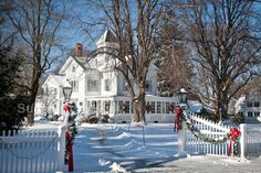 Bethlehem is full of lovely old homes.  | Inn decorated for Christmas in Centerville village, Barnstable, Cape ...