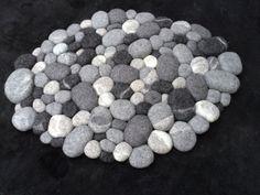 Filzsteinteppich supersoft grau 3D von flussdesign auf Etsy