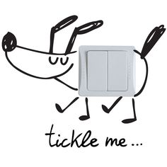tickle me wall sticker