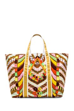 hand embroidered large tote