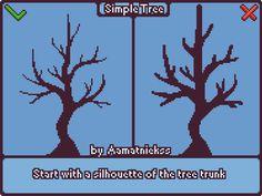 Drawing Help — namatnieks:   Simple Tree - Pixel art tutorial   ...