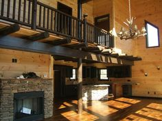 I love cabin-style houses/interiors