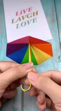Origami paper box unbrella, Want it or perhaps not, the break searching season is entirely swing. Diy Crafts Hacks, Diy Crafts For Gifts, Easy Diy Crafts, Diy Arts And Crafts, Creative Crafts, Instruções Origami, Origami Simple, Paper Crafts Origami, Rainbow Origami