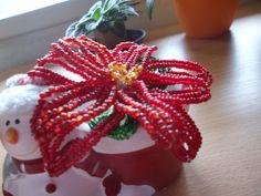 vánoční hvězda  korálků
