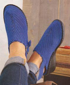 Esquemas | CTejidas: Zapatos a Crochet - Suecos -> http://esquemas.ctejidas.com/2014/06/zapatos-crochet-suecos.html