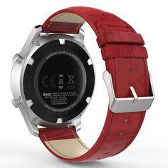 Samsung Gear S3 Frontier Armband Ersatzband Echt Krokodil Uhrenarmband Uhr Rot