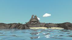 Skull Rock Island by Vivien Lambert, via Behance