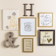 Loving the gallery wall trend? Learn how to create a gallery wall like a pro! Click on link in profile to view more! #homedecor #HobbyInspiration