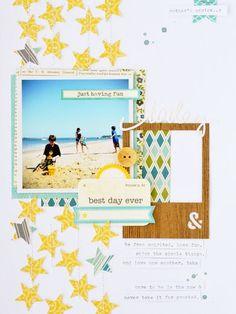 #papercraft #scrapbook #layout    Best Day Ever Layout by Leanne Allinson via Jillibean Soup  Blog