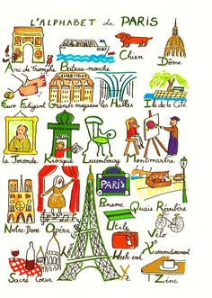 "L'alphabet de Paris- from website ""le français et vous"""