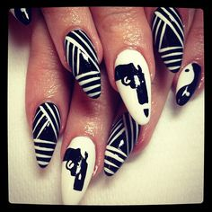 I don't like the nail shape but love the designs.