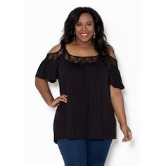 Sealed With A Kiss Designs Plus Size Stacy Cold Shoulder Top