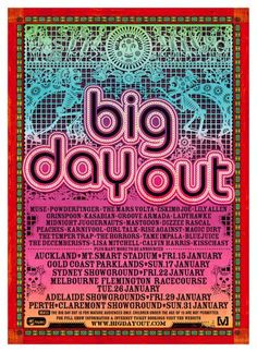 Big Day Out - Flemington Racecourse. January 26, 2010. Forgot to add this one in earlier. :(  Stinking hot day. Got so sunburnt, but hell it was worth it. Eskimo Joe, Bluejuice, Powderfinger in one of their last shows and of course the mind-blowing Muse,plus many more! This was an amazing day out!