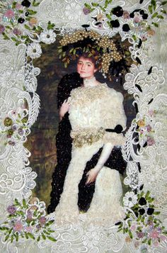 Victorian lady embellished quilt wall hanging www.candy4me.etsy.com