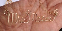 Solid Gold Name Necklace-Name Necklace-Gold Name