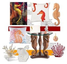 """#Mimicry: Seahorses"" by wendycecille ❤ liked on Polyvore featuring art"
