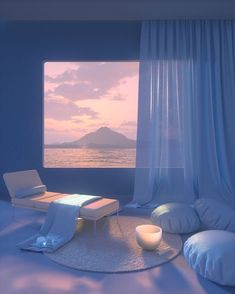 """INTERIOR PORN on Twitter: """"A relaxing dreamscape 🥰… """" Baby Blue Aesthetic, Aesthetic Space, Light Blue Aesthetic, Aesthetic Photo, Aesthetic Backgrounds, Aesthetic Wallpapers, Arquitectura Wallpaper, Ästhetisches Design, Retro Futurism"""