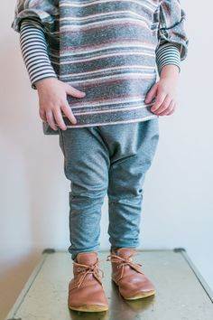 Grey Joggers for Babies and Kids by EWMcCall on Etsy
