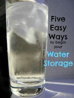 Preparedness Challenge: Five Easy Ways to Begin Water Storage - 72 Hour Kits - Emergency Preparedness