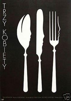 Polish poster design for Altman's Three Women by Mieczyslaw Wasilewski, 1978. Via theartofposter.com