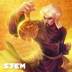 Muḥammad ibn Mūsā al-Khwārizmī was a Persian #mathematician, #astronomer, geographer during the Abbasid Caliphate, and a scholar in the House of Wisdom in Baghdad. He is often considered one of the fathers of algebra. #STEM #STEMtheGame illustration by @limetown