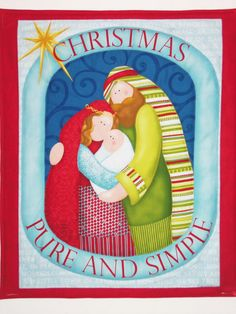 Christmas Wall Hanging  PURE and SIMPLE Quilted by SewNSewSister