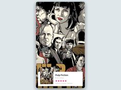 Movie Cards Interaction by Pablo Stanley