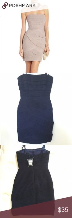 """BCBGmaxazria """"Jorie"""" dress in NAVY This is a NAVY DRESS! Other colors shown to highlight texture of the dress. This is a simple yet elegant dress that can be worn anyway you desire! Never worn. Comes with straps. BCBGMaxAzria Dresses Mini"""