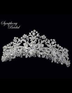 Symphony Bridal 4907CR Royal Wedding Tiara Crown Svatební Šaty 6cc384268a