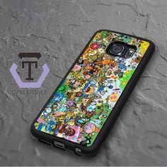 Adventure Time Samsung Galaxy S6 Edge Black Case