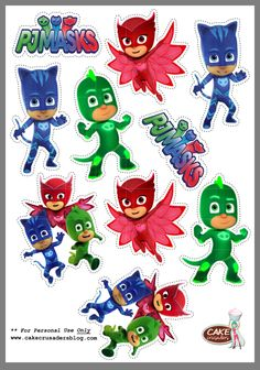 The video consists of 23 Christmas craft ideas. Pj Masks Cake Topper, Pj Masks Cupcake Toppers, Pj Mask Cupcakes, Pjmask Party, Party Kit, Pj Mask Party Decorations, Party Themes, 3rd Birthday Parties, Boy Birthday