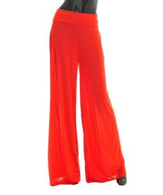 Look at this #zulilyfind! Red Palazzo Pants by SUE & KRIS #zulilyfinds