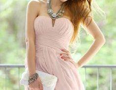 Chiffon Prom Dress Sweetheart Pink ..