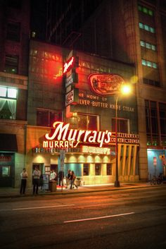 Murray's Steakhouse in Minneapolis, MN (Murray's is a landmark steakhouse in downtown Minneapolis, home of the famous Silver Butter Knife Steak - since 1954)
