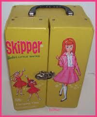 I loved these Barbie carrying cases filled with clothes, shoes, accessories, and of course Barbies!