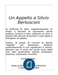 Un Appello a Silvio Berlusconi