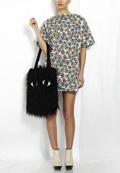 Joanna Pybus Small Eye-Print Shirt Dress Styled Bengt Fashion