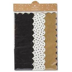 Sugar Paper Gold, White, and Black Tissue Paper