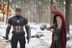 """Capitão América e Thor são só dois dos super-heróis da Marvel que se juntam em """"Os Vingadores: A Era de Ultron"""" ► Exibido em Maio de 2015 no @ Cinema"""