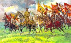 Henri II, roi de France, en capitaine de chevau-légers et Charles de Habsbourg dit Charles Quint vers 1550