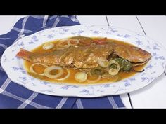 ❤ Love For Haitian Food - Episode 43 - How to make Pwason nan Sos Haitian Fish Recipe, Haitian Food Recipes, Fish Recipes, Donut Recipes, Greek Recipes, Hatian Food, Carribean Food, Caribbean Recipes, Recipes