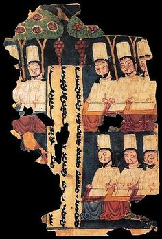 Manichaean priests copy down texts in a cave painting from China's Tarim Basin, century CE. Manichaeism was a central Asian religion that was begun by Mani, a Zoroastrian from Persia, in the. History Articles, Islam, World Religions, Carl Jung, Le Far West, Jesus Cristo, Silk Road, Central Asia, Ancient Civilizations