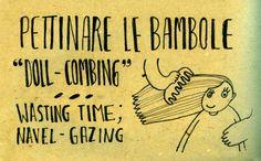Learning Italian Language ~ Pettinare le bambole